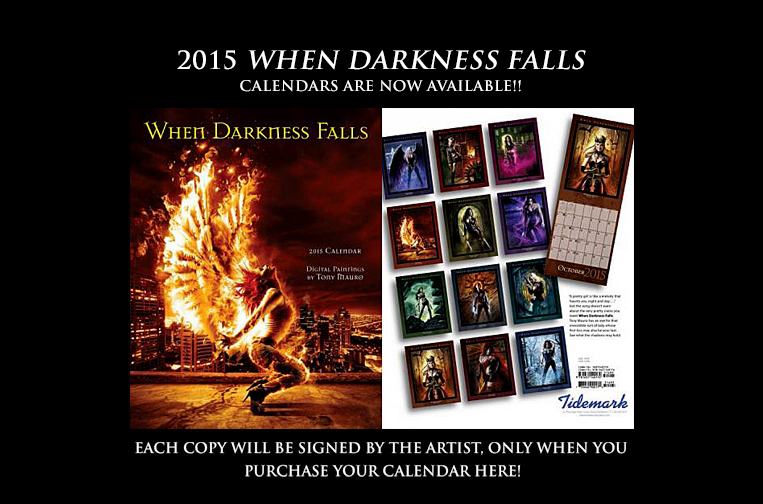 2015 When Darkness Falls calendar