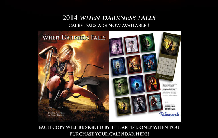 When Darkness Falls calendar